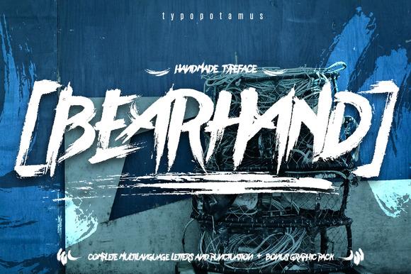 Download Download BearHand font | fontsme.com
