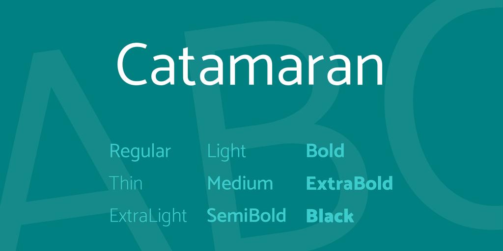 Download Catamaran font | fontsme com