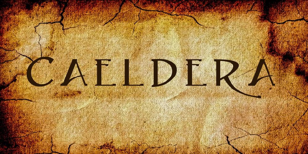 Download Caeldera font | fontsme com