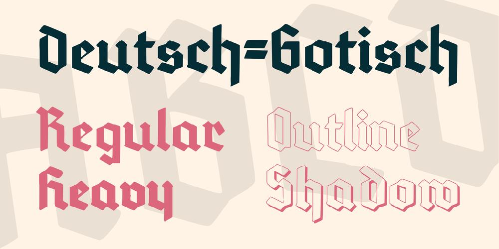 download deutschgotisch font  fontsme