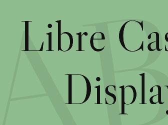 Download 1 free libre caslon display regular fonts   fontsme com