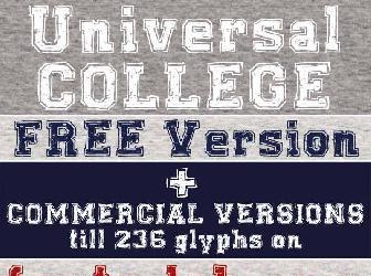 College Font Free For Commercial Use
